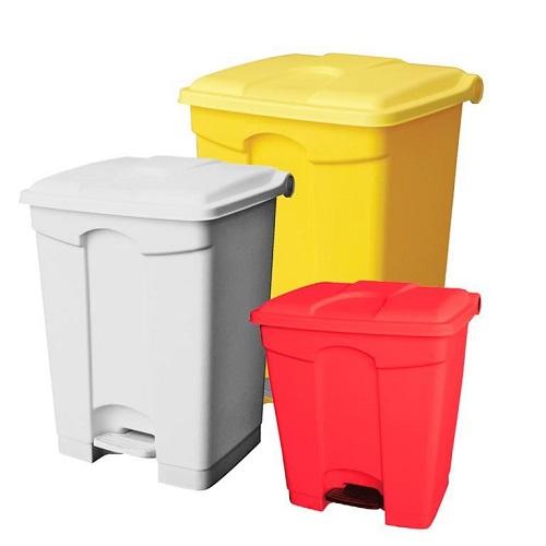 سطل زباله پلاستیکی پدال دار اداری