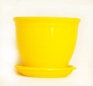 جدیدترین گلدان پلاستیکی زرد