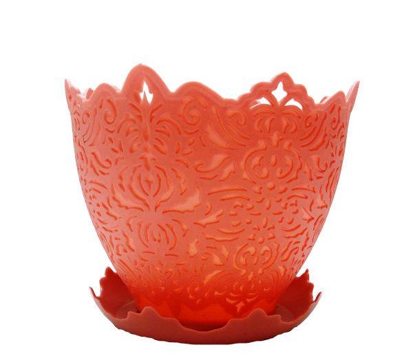 گلدان پلاستیکی طرح برجسته